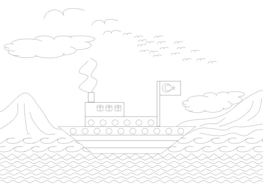 1 Sınıf çiz Boya Etkinlikleri Gemi Seyit Ahmet Uzun