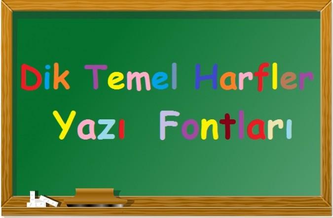 1. Sınıf Dik Temel Harfler Yazı Fontu indir