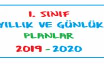 1. Sınıf Günlük ve Yıllık Planlar 2019-2020